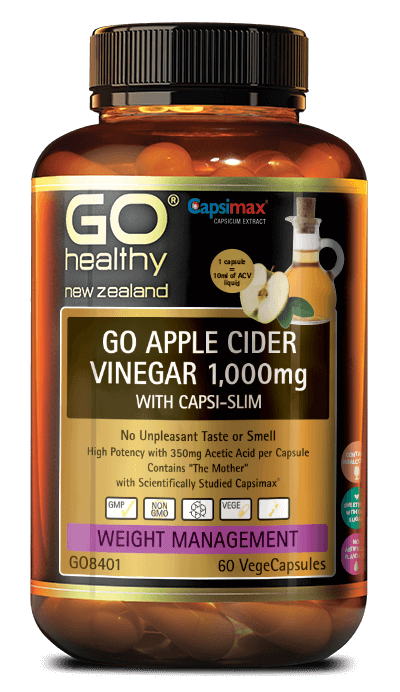 GO Healthy Apple Cider Vinegar with Capsi-Slim 60s